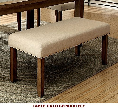 247SHOPATHOME IDF-3531BN Kitchen-and-Dining-Room-Table-Benches, Brown by 247SHOPATHOME