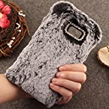 kitchen 67 specials Galaxy C5 Pro Art Case, Handmade Fluffy Villi Wool Cute Ball Tail Winter Warm Soft Cover, TAITOU Beautiful Special Full Wool Design Light Slim Protection Phone Case For Samsung Galaxy C5Pro Black