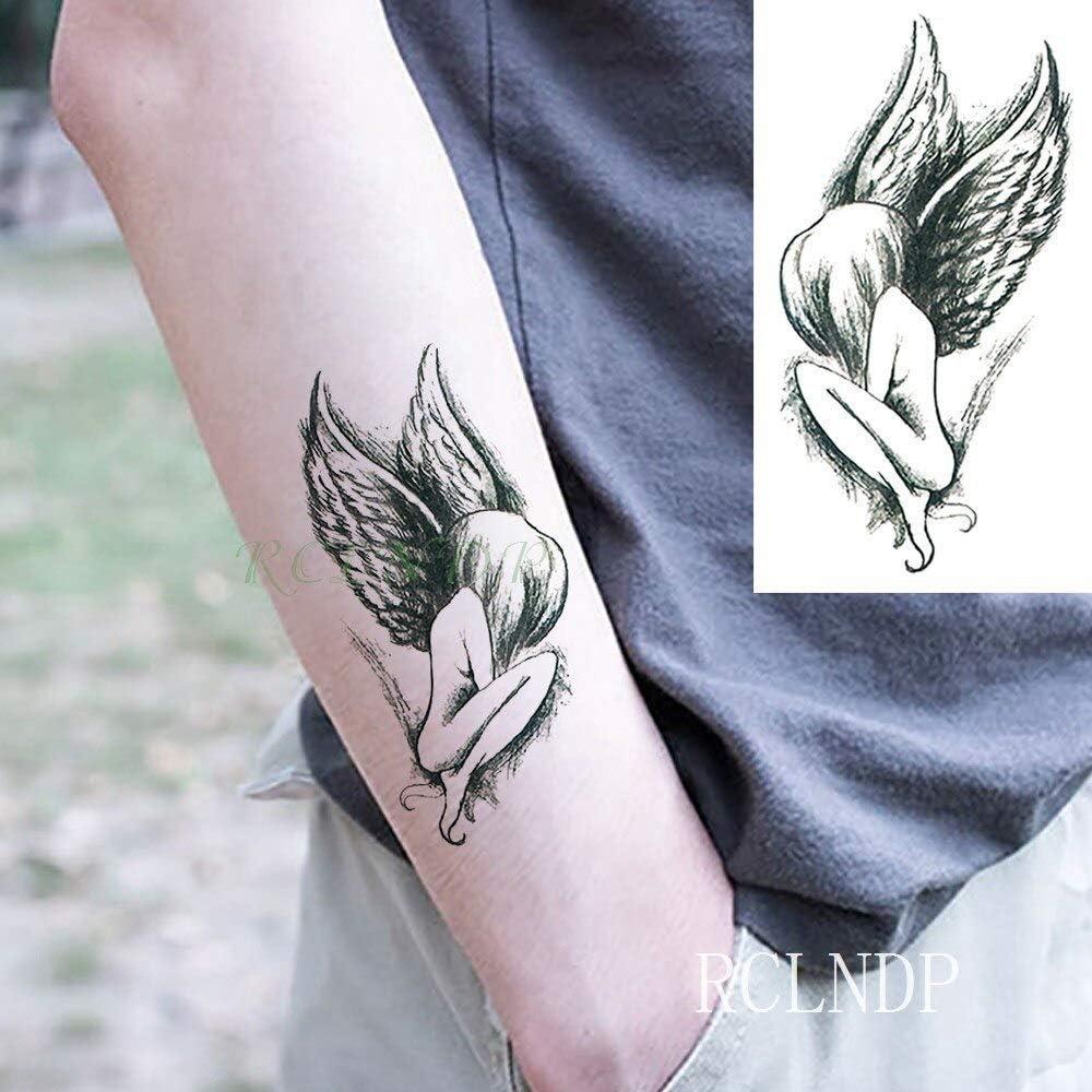 Yyoutop Impermeable e Tatuaje Pegatina Animal Lobo león águila ...