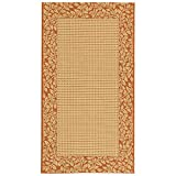 Safavieh Courtyard Collection CY0727-3201 Natural and Terra Indoor/Outdoor Area Rug (2'7″ x 5′) Review
