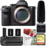 Sony a7R II Full-frame Mirrorless Interchangeable Lens 42.4MP Camera - Body Only (ILCE-7RM2/B) + Tascam DR-10SG Audio Recorder & Microphone Kit