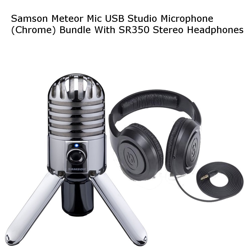 Samson Meteor Mic USB Studio Microphone (Chrome) Samson Audio