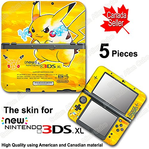 Pokemon 20th Anniversary Pokémon YL Edition Skin Sticker Cover #2 for NEW 3DS XL