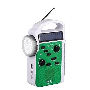 Amazon.com: Radio de emergencia con Solar y Crank, batería ...