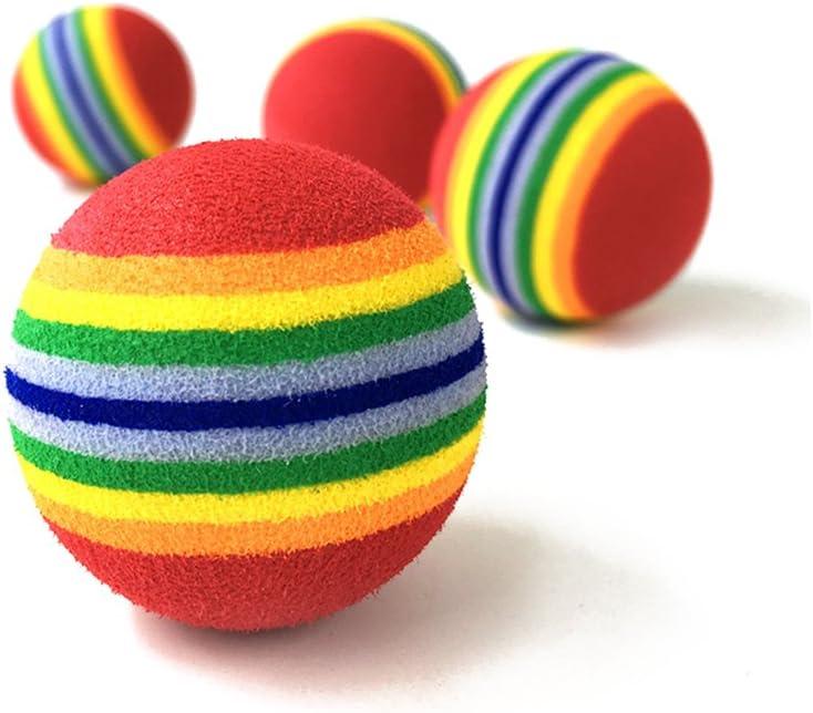 UEETEK Animal doméstico gato juguete bolas pequeñas espuma del ...