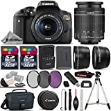 Canon EOS Rebel T6i DSLR Camera + Canon 18-55mm IS STM Lens + 0.43X Wide Angle Lens + 2.2x Telephoto Lens + 64GB Storage + UV-CPL-FLD Filters + Canon Bag + Tripod - International Version