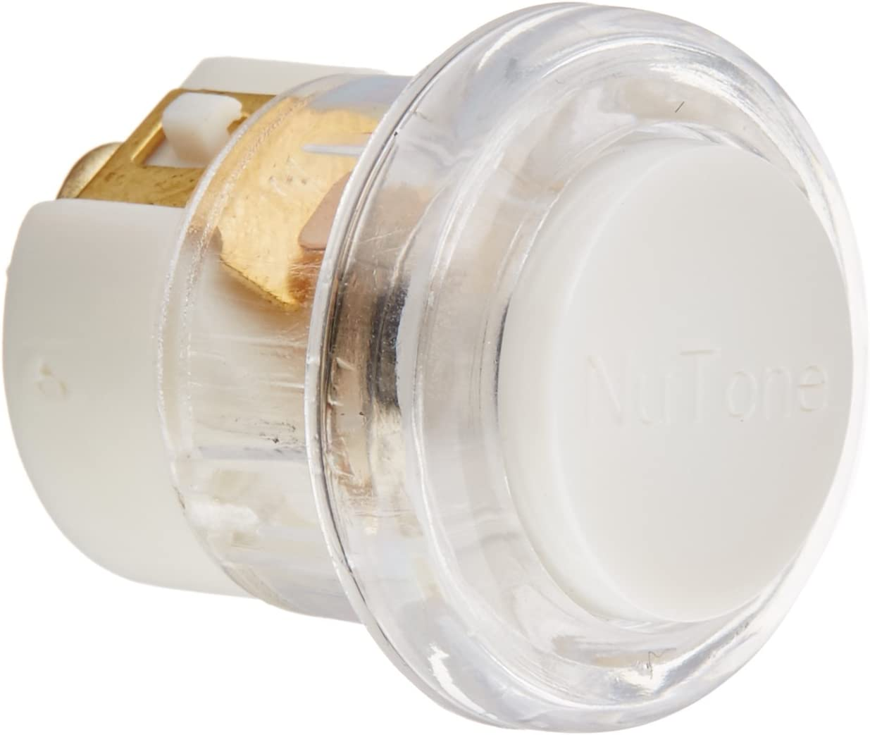 """Broan-NuTone PB18LWHCL Doorbell Kit, Lighted Circle Pushbutton for Home, 0.81"""" Diameter, Clear and White"""