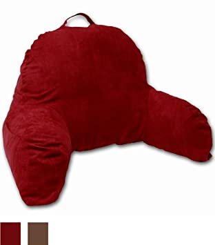 Amazoncom Red Microsuede Bed Rest Reading Pillow Support Bed