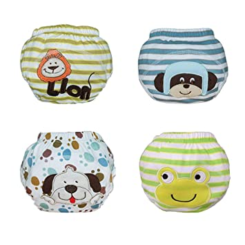 Babyfriend Lovely Baby Boys/' Washable 5 Pack Toilet Training Pants Nappy Cloth