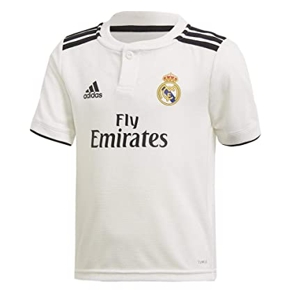 c0b2fa4f947 Image Unavailable. Image not available for. Color: adidas 2018-2019 Real  Madrid Home Shirt (Kids)