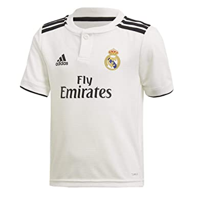 a7bef35e24d5 adidas Maillot Junior Real Madrid 2018 19  Amazon.fr  Vêtements et  accessoires