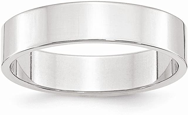 Top 10 Jewelry Gift 10KW 4mm Standard Flat Comfort Fit Band Size 10