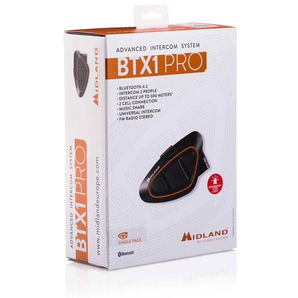 Midland BTX1 Pro Single con altavoces HI FI Intercomunicador color amarillo