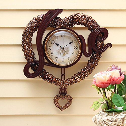 Love wedding fancy wall clock clock fashion living room art clock wall clock 18 inches,D642AM by Vory