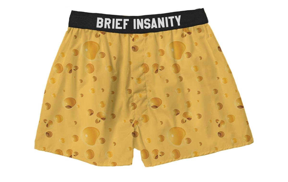 Brief Insanity Who Cut The Cheese? Silky Funny Boxer Shorts Gifts for Men Dad