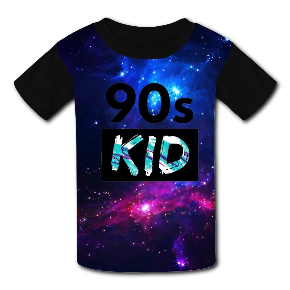 Aslgisy 90s Kid Casual T-Shirt Short Sleeve for Kids