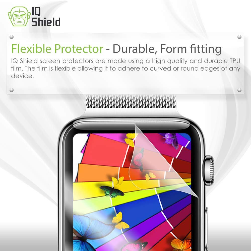 Apple Watch Screen Protector (38mm)(Apple Watch Nike+, Series 3/2/1 Compatible)[Ultimate](6-Pack), IQ Shield LiQuidSkin Full Coverage Screen Protector [HD Clear Anti-Bubble Film] by IQShield (Image #3)