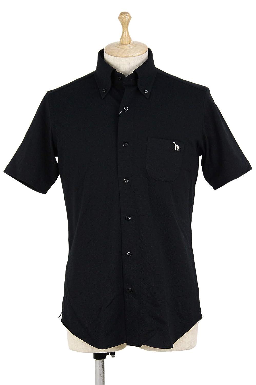 カジュアルシャツ メンズ アダバット×HITOYOSHI SHIRTSコラボ adabat 2019 春夏 ゴルフウェア 643-86400 LL(50) ブラック(019) B07QJ8R3PQ