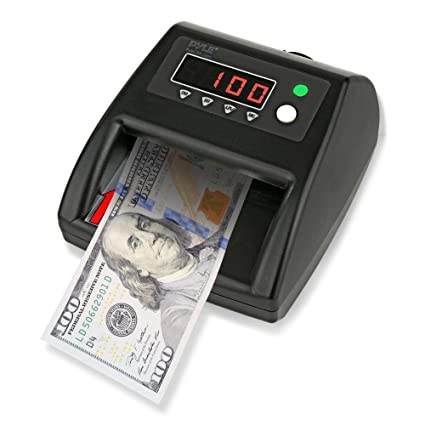 Pyle 2-in-1 Improved Bill Counter, Counterfeit Bill Detector, UV Scanning