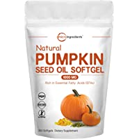 Maximum Strength Pumpkin Seeds Oil 2000mg Per Serving, 300 Liquid Softgels, Pumpkin Supplements, Strongly Supports…