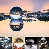 水晶玉 水晶球 60mm 無色透明 クリア台座付き 人工 溶錬 宙玉撮影 開運祈願インテリア 風水グッズ クリスタルボール レンズボール 撮影