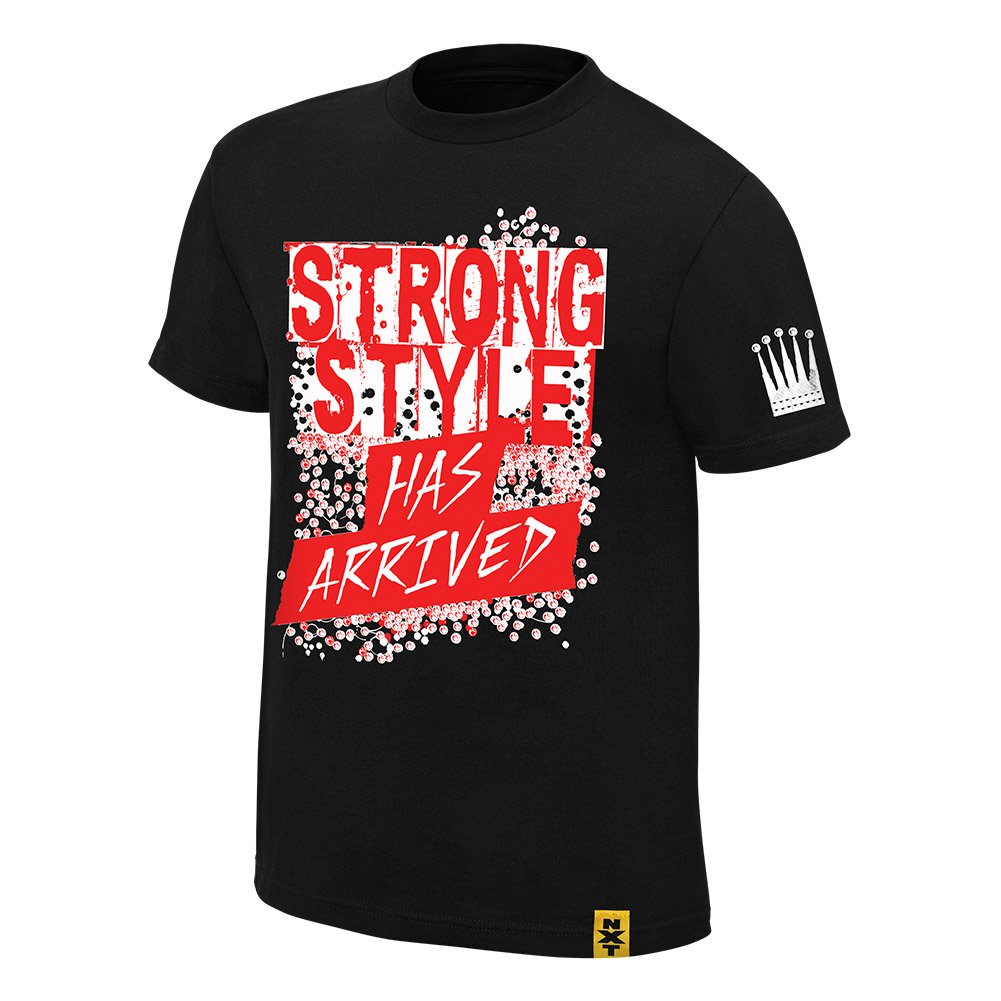 Shinsuke Nakamura Strong Style Has Arrived WWE Authentic Mens Black T-shirt-3XL by WWE