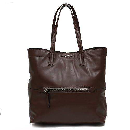 5ff7ca27b1d8 Miu Miu by Prada Vitello Soft Leather Shopping Tote Bag