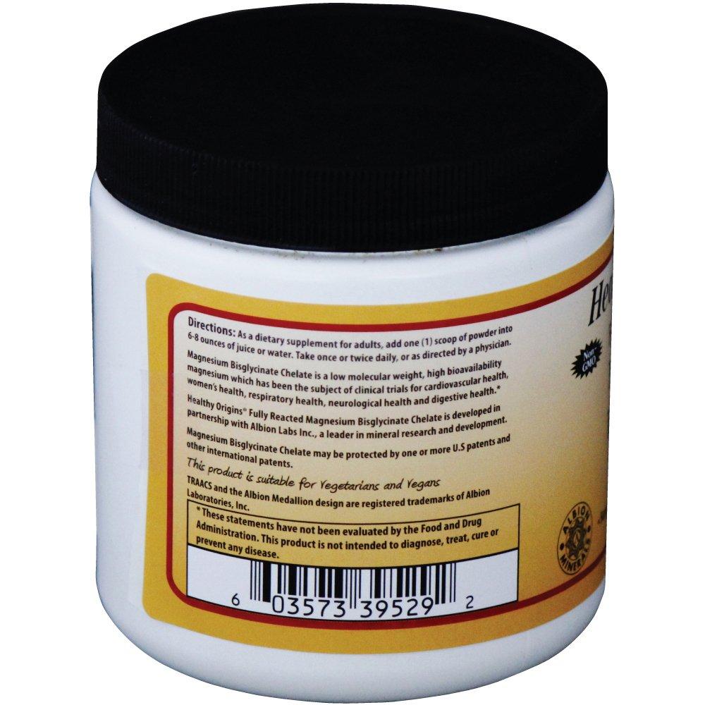 El magnesio reaccionado completamente Bisglicinato quelato de 8 oz (227 g) - Orígenes saludables: Amazon.es: Salud y cuidado personal