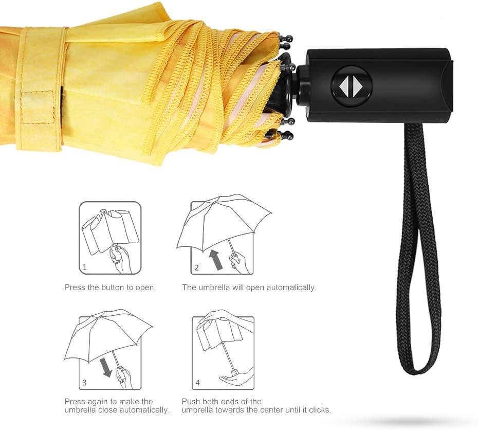 Amazon.com: PLEMO paraguas plegable con asa de goma ...