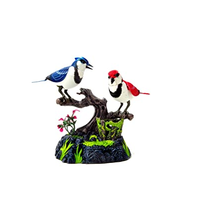 CHIMAERA Singing & Chirping Birds Electronic Pets- Realistic Sounds & Movements (Blue Jays): Toys & Games