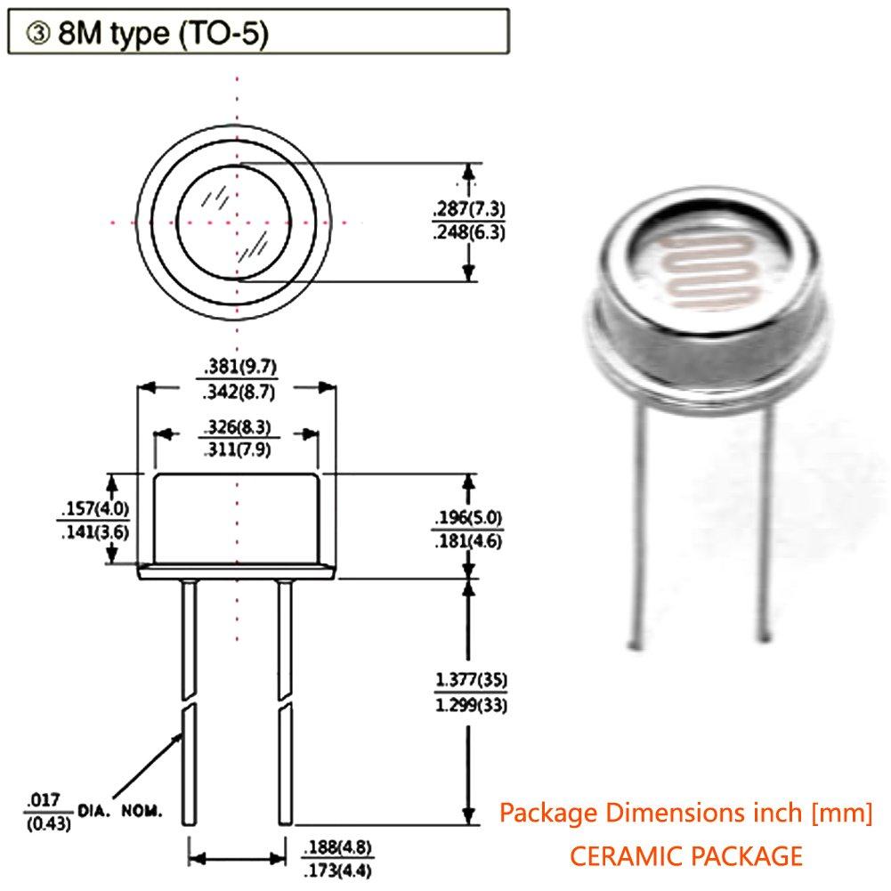 5pcs longxinda Fotorresistor lxd8516 hermética tipo de luz dependiente resistencia: Amazon.es: Amazon.es