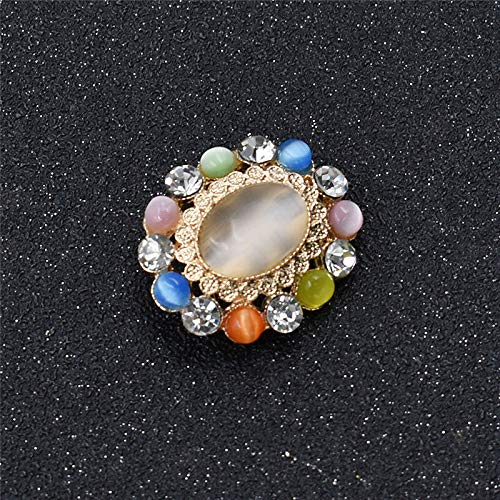 Artificial Opal Pearl Rhinestones Alloy Sewing Buttons Hand Crafts DIY for Cloth (XZ - #1Cats Eye)