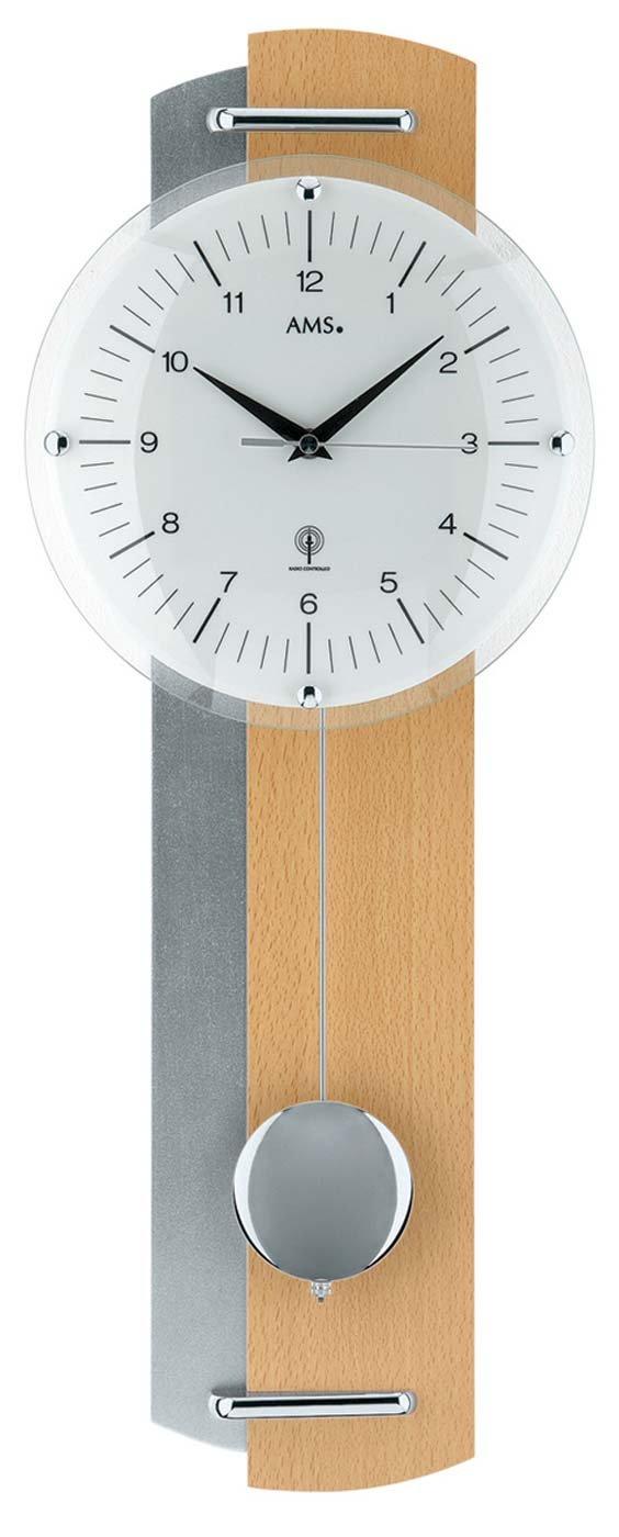 AMS 5244/18 - Orologio a pendolo radiocontrollato in legno di faggio con stile moderno F5244/18
