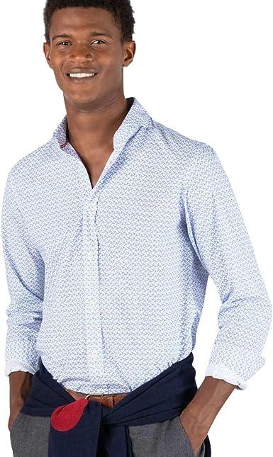 El Ganso Urban Iconic Camisa casual, Azul (Azul 0023), Small para Hombre: Amazon.es: Ropa y accesorios
