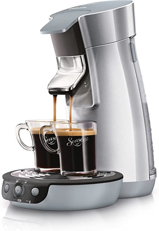 Philips Senseo Viva Café - Cafetera monodosis, color plata: Amazon ...