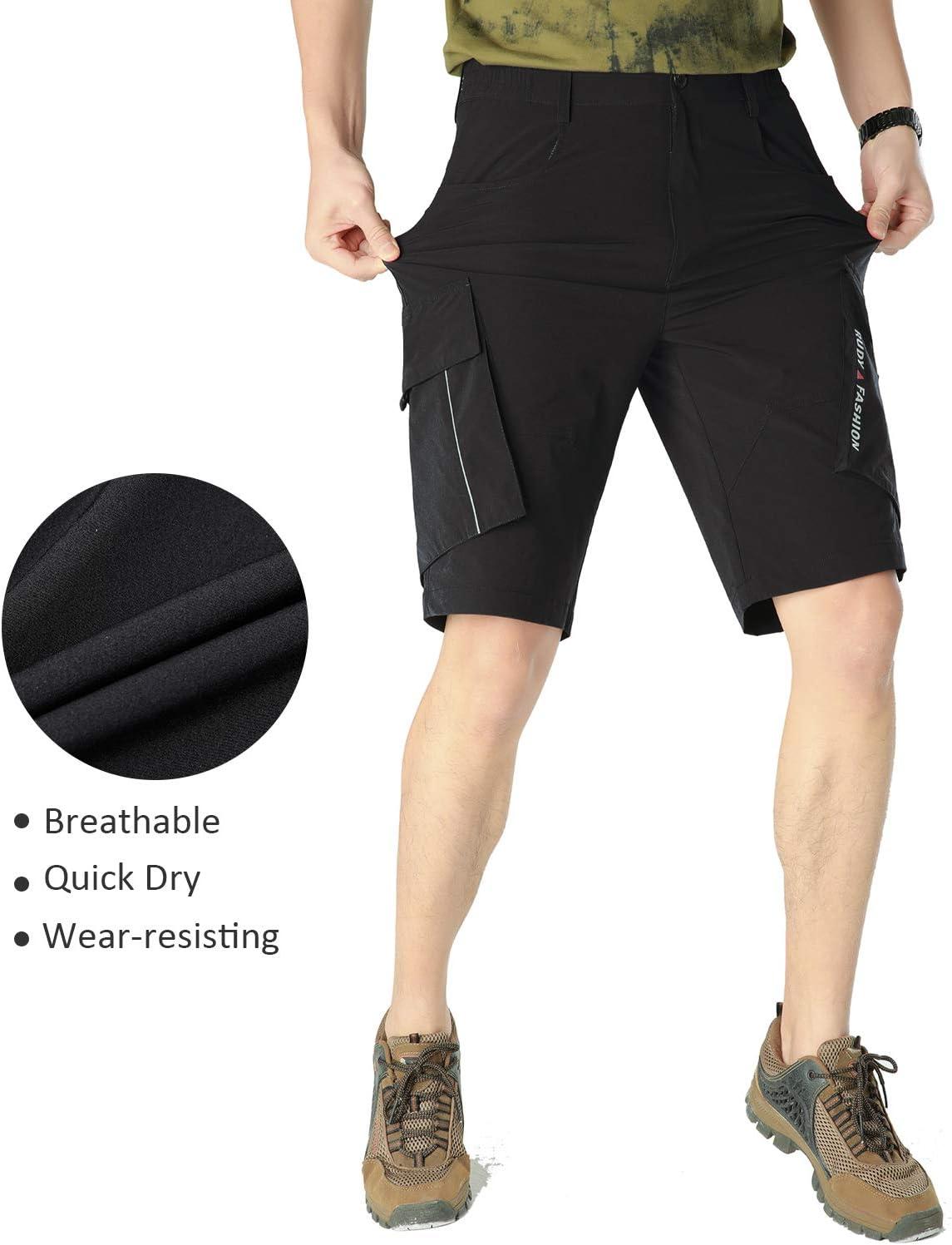 SUKUTU Mens Outdoor Summer Shorts Quick Dry Hiking Cycling Jogging Sports Stretch Shorts