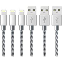 iPhone Charger Cable Lightning Cable Marktol (3FT-3Pack,Grey) Fast Sync Charger USB Cable Nylon Braided Cord for iPhone 8/X 7/7 Plus/6/6s/6 Plus/6s Plus,5c/5s/5/SE,iPad Pro/Air/mini,iPod and more (3ft