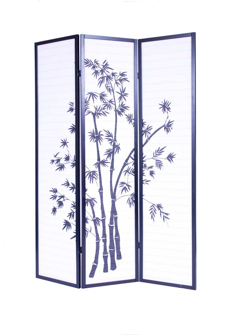 Roundhill Furniture 3-Panel Oriental Shoji Room Divider