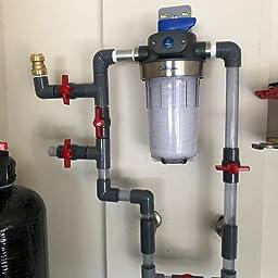 Compact T-Handle Water Shut-Off Valves Available 3//4,1.25,1.5,2 Slip SHMONO 1 Inline PVC Ball Valve Socket