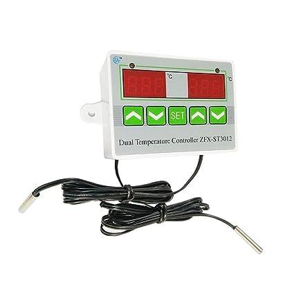 Waroomss ZFX-ST3012 Controlador de temperatura digital inteligente ...