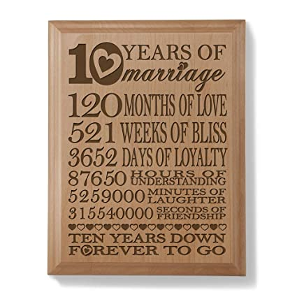 10 Year Wedding Anniversary.Kate Posh Our 10th Anniversary Engraved Natural Wood Plaque 10 Years Of Marriage 10th 10 Years 120 Months 10 Year Wedding 10 Years As Husband
