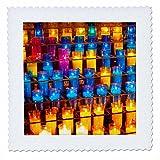 3dRose Danita Delimont - Patterns - Prayer candles, Monastery of Montserrat, Barcelona, Catalonia, Spain. - 16x16 inch quilt square (qs_257897_6)