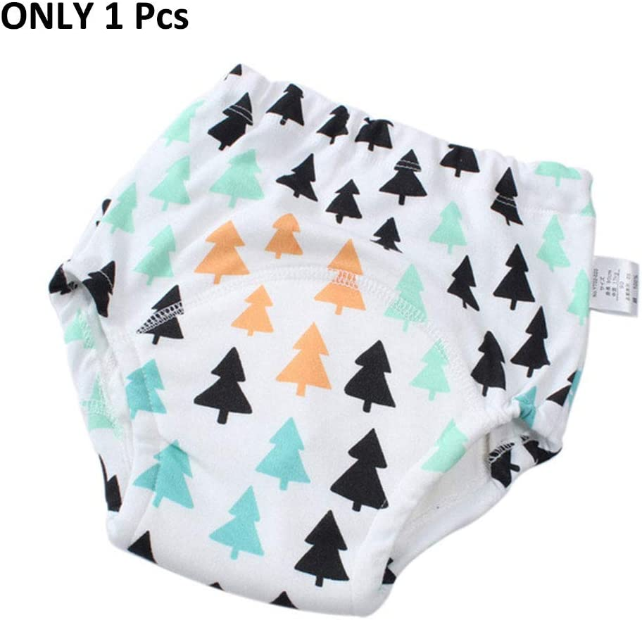 110cm , tree21-1pcs 3Pack Baby Cotton Training Pants Reusable Potty Training Underwear for Boys and Girls 3T-4T