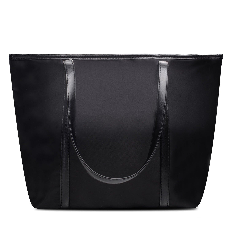 Vintga Large Fashion Totes Bag Shoulder Bag Top Handle Satchel Handbag Purse for Women (Black1)