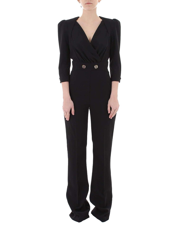 competitive price dd487 993ab Amazon.com: ELISABETTA FRANCHI Women's TU14891E2110 Black ...