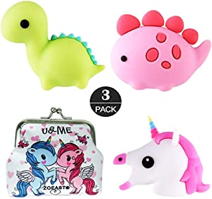 ZOEAST(TM) Cartoon Animal Fruits Protector USB Charger Saver Charging Data Earphone Line Protector Compatible with All iPhone iPad iPod and Most Android Phones (Dinosaurs Unicorn)