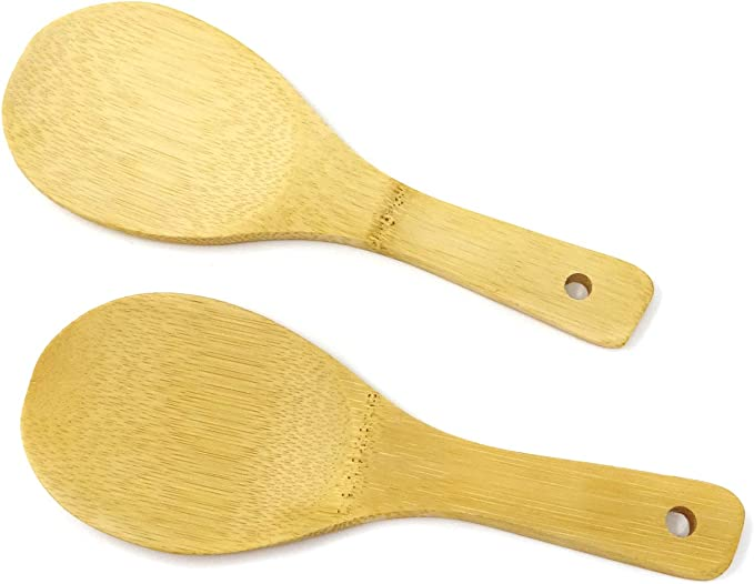 Natural Bamboo Spoon for Kitchen 237cm Rice Paddle