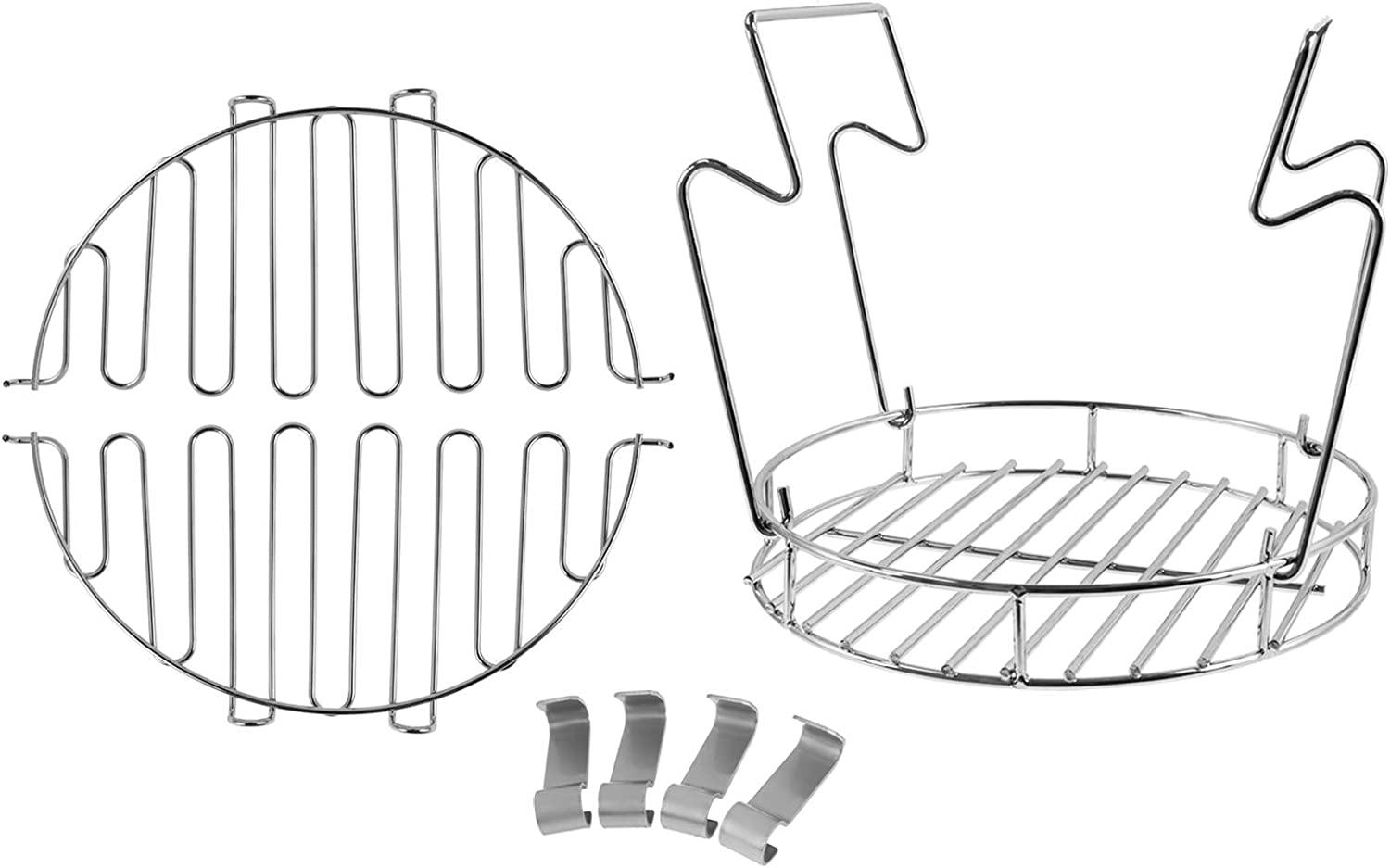 PETKAO Accessory Kit, Bunk Bed Basket, Leg Rack, Rib Hooks for Char-Broil The Big Easy Turkey Fryer, Stainless Steel