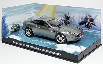 Metal Modellauto 1 43 Diorama Aston Martin V12 Vanquish James Bond 007 Die Another Day Amazon De Spielzeug