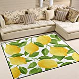 Cheap ALAZA Watercolor Lemon Fruit Tree Area Rug Rugs for Living Room Bedroom 7′ x 5′